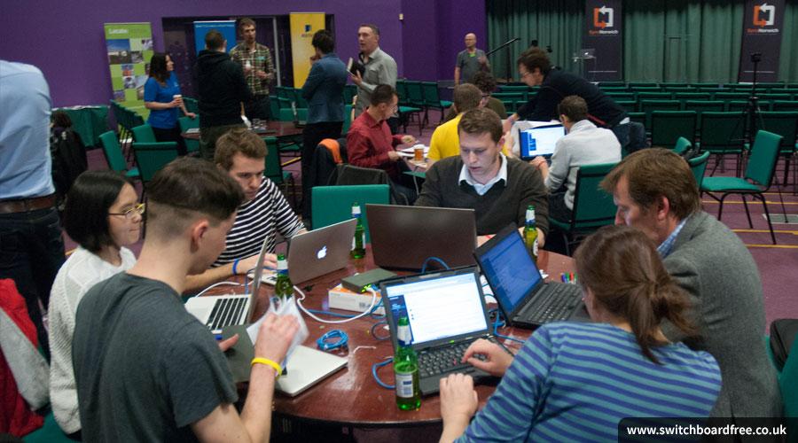 Teams hard at work at Sync the City 2015