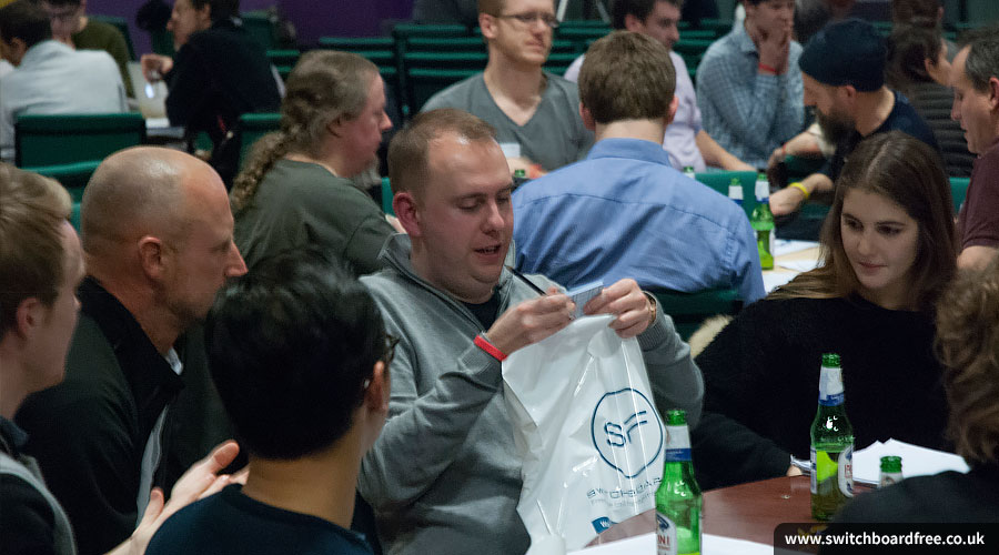 Teams and SwitchboardFREE goody bag at Sync the City 2015