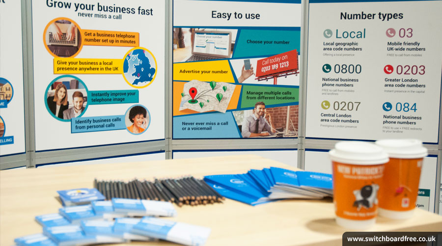 SwitchboardFREE stand with stationery at Sync the City 2015