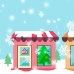 Christmas Shop Illustration Open Closed Snowing - SwitchboardFREE blog
